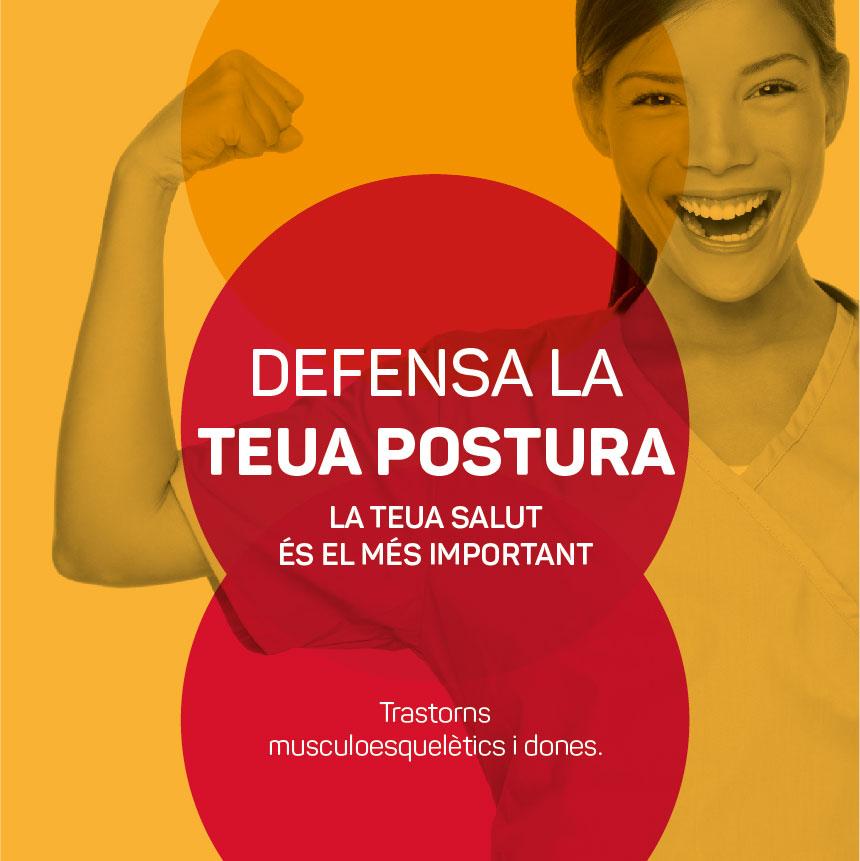 "Diseño de la campaña de CCOO País Valencià ""Defensa la teua postura"""